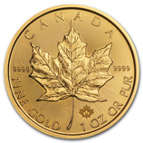 Gold Canadian Maple Leafs